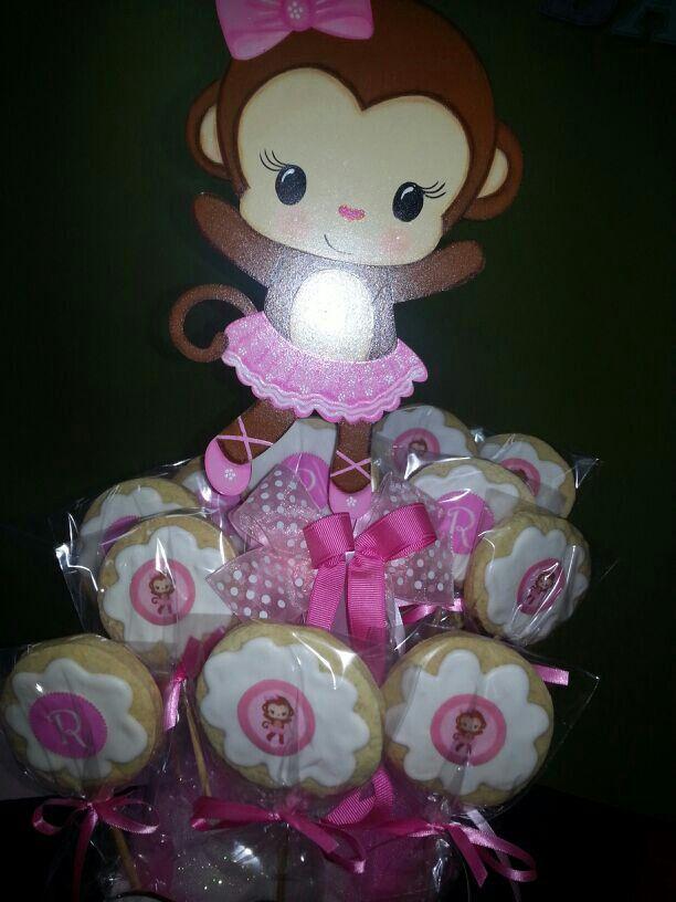 Baby monkey themed decoration- cake table