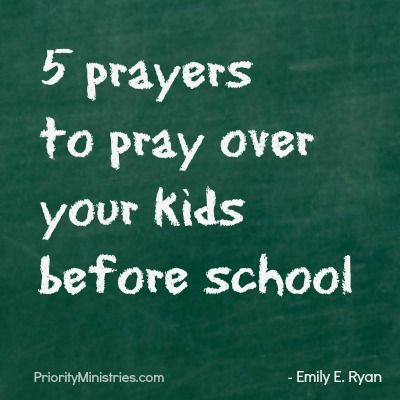 pray before school