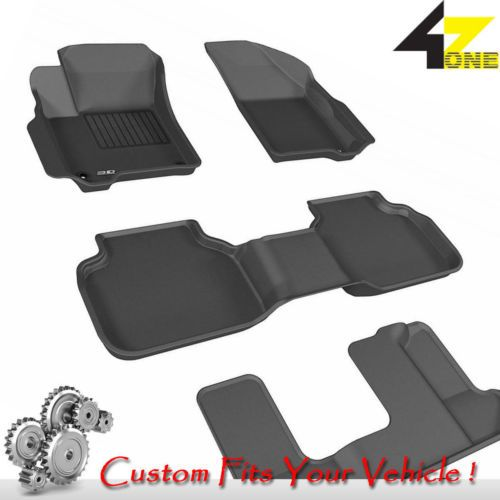 3D Fits 2012-2016 Dodge Journey G3AC81683 Black Waterproof Front and Rear Car Pa