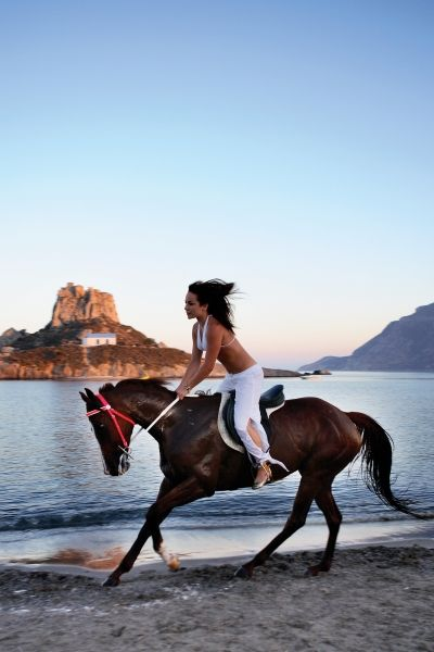 Horse riding in Kos....always wanted to ride a horse along the shore.........