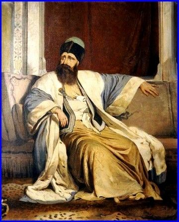 Michael Soutzos, hospodar of Moldavia, (ca 1890) by  Nikiforos Lytras ( 1832-1904 )