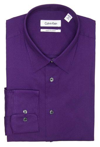 Purple Calvin Klein Purple Dress Shirt