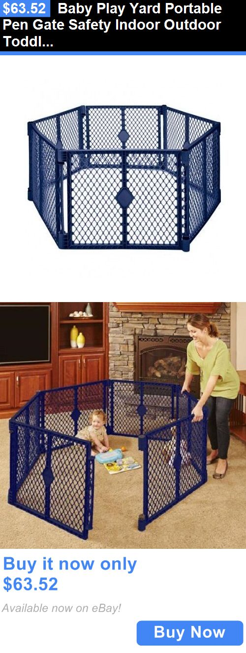baby kid stuff: Baby Play Yard Portable Pen Gate Safety Indoor Outdoor Toddler Crib Infant Kids BUY IT NOW ONLY: $63.52
