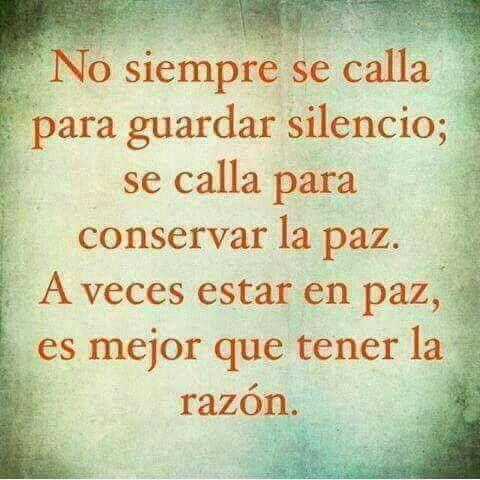 El silencio... Cuánta sabiduría encierra...