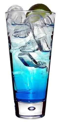 Blue Lagoon Blue Lagoon's drinkrecept 4 cl Vodka 2 cl Blå curacao, bols blue Sprite