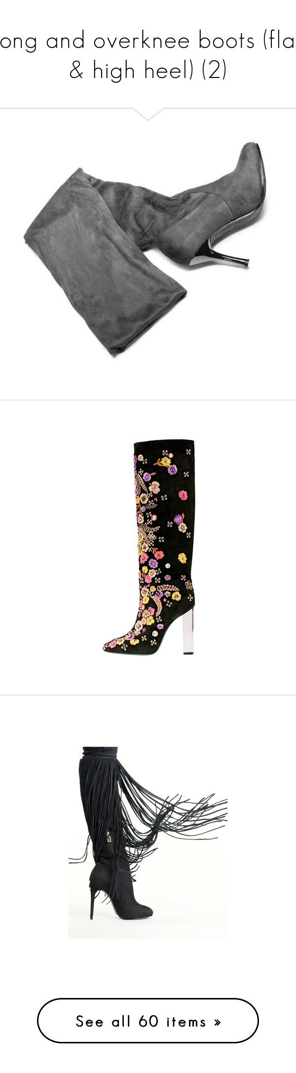 """""""long and overknee boots (flat & high heel) (2)"""" by bonadea007 ❤ liked on Polyvore featuring shoes, boots, long boots, over the knee boots, over-knee boots, stretch boots, above-knee boots, black boots, suede high heel boots and long high heel boots"""