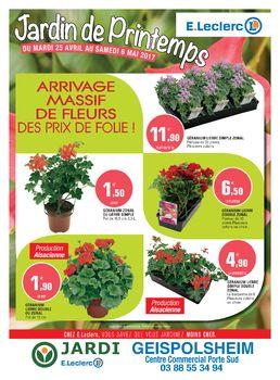 Télécharger le dernier catalogue E Leclerc Jardin de printemps valable du  du 25/04/2017 au 06/05/2017
