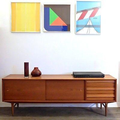 1 Antikes Danish Modern Design Wohnzimmer Schrank Mid Century 60s 70s Wohnwand