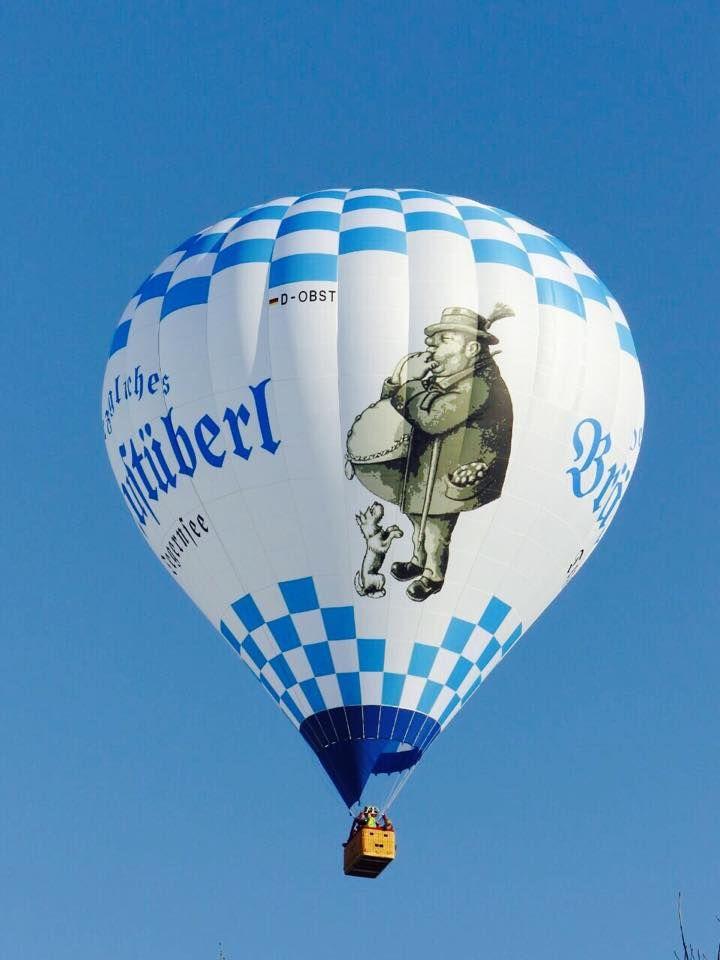 Der neue Ballon bei seiner Jungfernfahrt im Februar 2015!  Eigene Fahrt buchen unter: www.ballooning-tegernsee.de http://www.facebook.com/Braustuberl