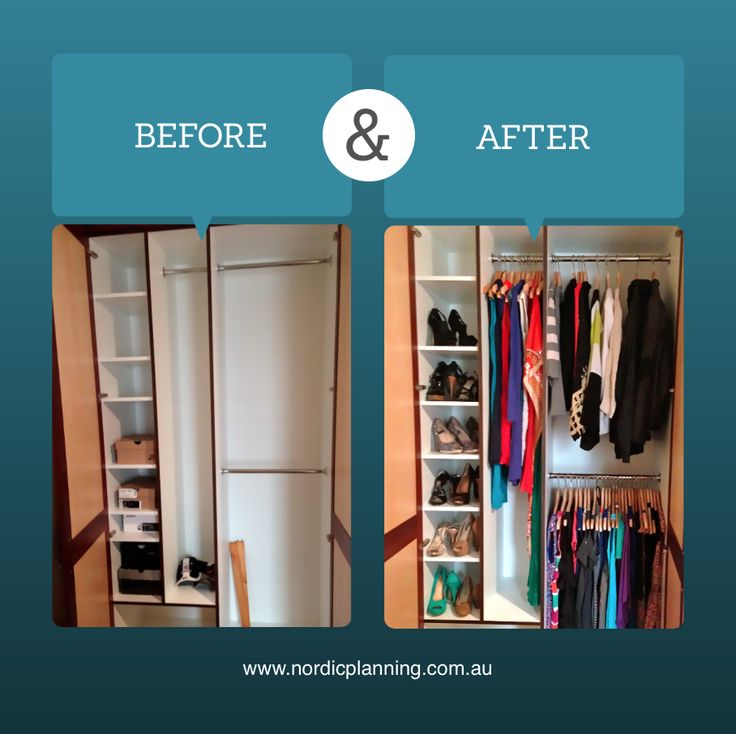 Before & After: Client just moved into a new home and needed a hand unpacking. All boxes were unpacked and the empty wardrobe was set up from scratch and organised properly from day 1.  Kaarin, Professional Organiser at Nordic Planning in Perth