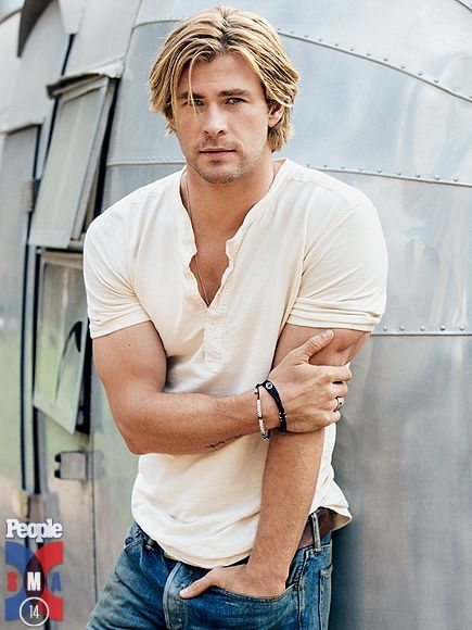 Chris Hemsworth: great hair no matter what length he wears it.