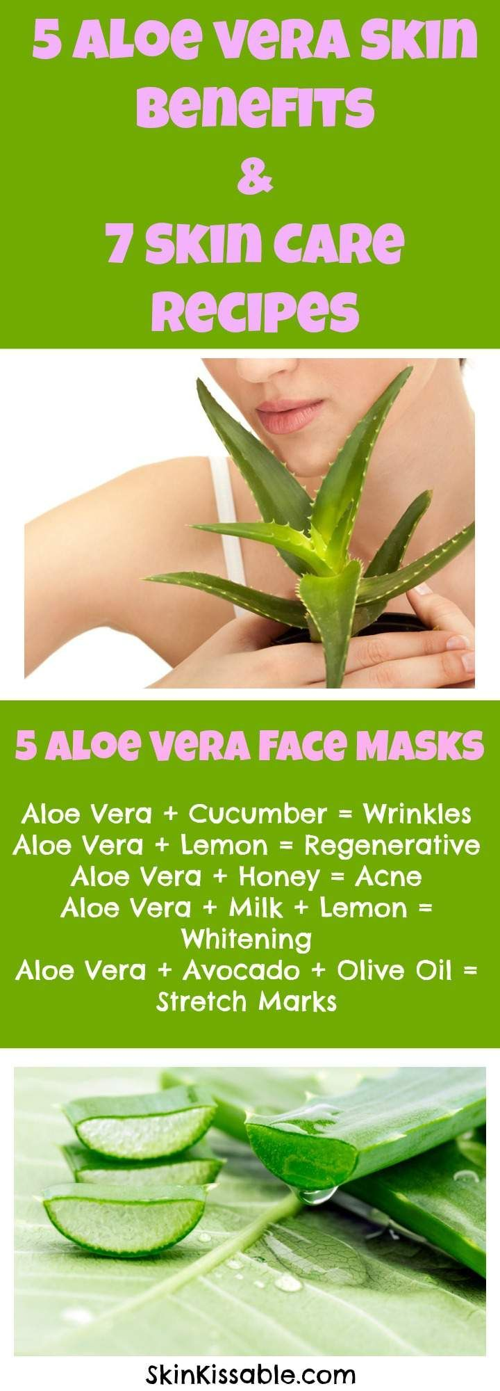 Aloe vera for skin care benefits and uses. Aloe vera homemade remedies for skin.