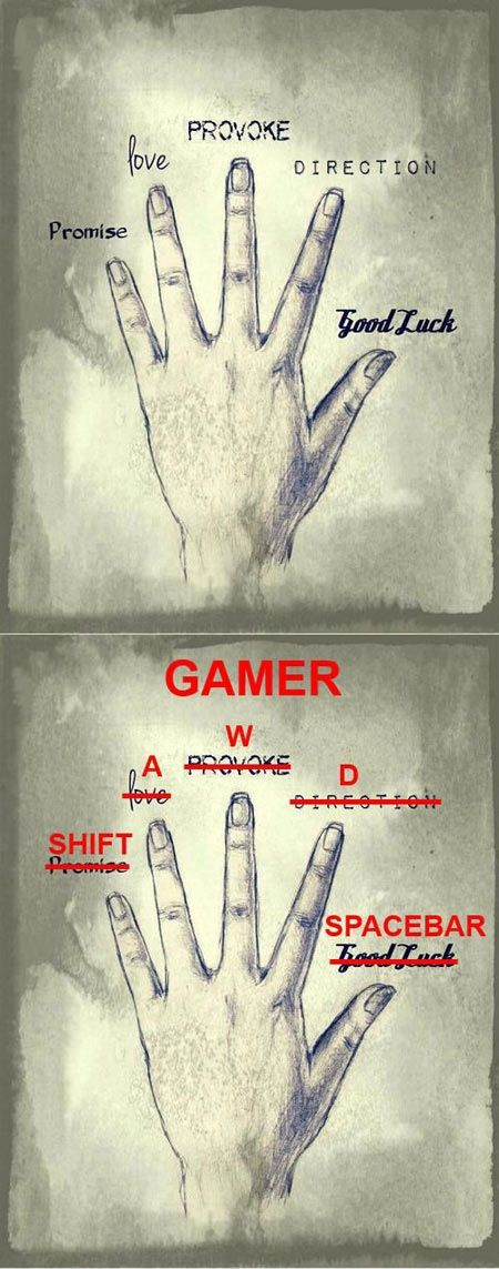 Ha. So True for me is not that I'm a gamer is just that my life and what I see is different than yours  ;-)