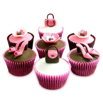 Makeup inspired cupcakes 🌸