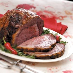 This is a very special and savory way to prepare a boneless beef rib roast. Gravy made from the drippings is exceptional. You can also use a ribeye roast with excellent results. — Evelyn Gebhardt, Kasilof, Alaska