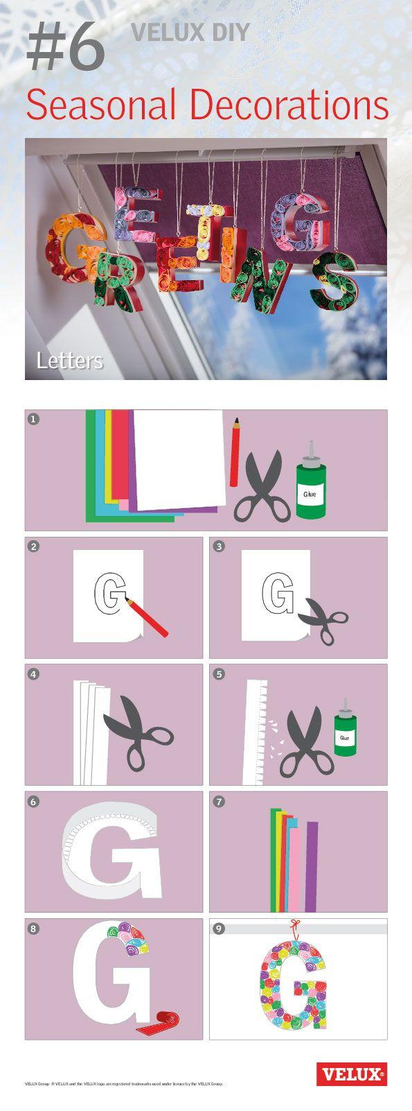 Pynt opp med selvlagede bokstaver og dekorer
