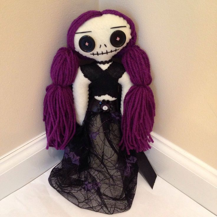 Zombie Doll, Undead Doll, Rag Doll, Halloween Doll, Art Doll, Gothic Doll, Handmade Doll, Skeleton Doll, Hand Stitched Felt Doll by RiotGirlCreations on Etsy https://www.etsy.com/listing/233677510/zombie-doll-undead-doll-rag-doll