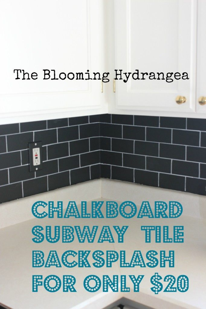 Chalkboard backsplash - could write menu, messages, etc.  {or... how about ceramic tiles and wipe-off markers}