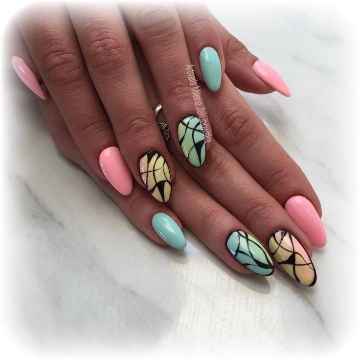 by Milena Jakubowska, Follow us on Pinterest. Find more inspiration at www.indigo-nails.com #nailart #nails #indigo #pastel