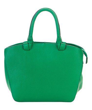 Green Dome Leather Satchel #zulily #zulilyfinds