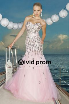 2012 Tulle Sweetheart Mermaid Full Length Prom Dresses Fully Beaded Bodice USD 335.99 VVPPQE67S8A - VividProm.com