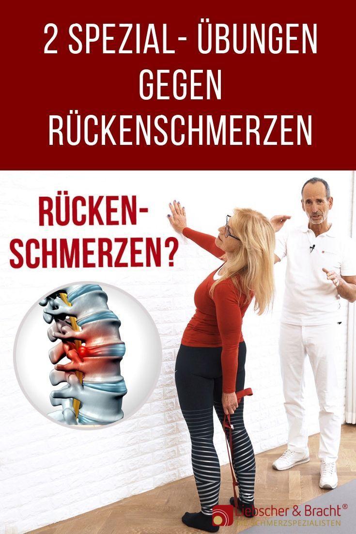2 special exercises for your healthy back – Rückenschmerzen