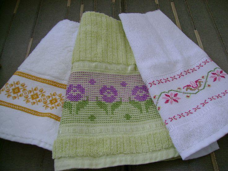 Toalhas de lavabo   Toalhinhas com pontos diferentes.   Mônica Bardi   Flickr