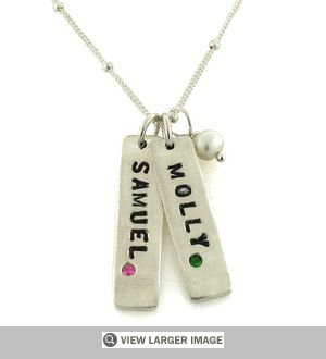 Birthstone Pendant Necklace. Price: $78.00-$98.00