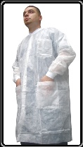 Disposable Lab Coats. Case of 25 are $24.95. I don't think I can beat that price anywhere.