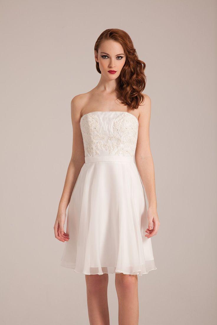robe de mariée courte bustier droit  Collection 2017 de robes de ...