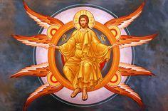Иконография Вознесения Господня - праздника, замыкающего собою пасхальный цикл. Своим восшествием в небесную славу Господь не просто вернулся к Отцу, но еще и возвратил человеческой природе ее былое величие, которым она обладала до грехопадения.