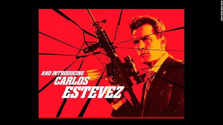 Charlie Sheen, itt titulálva Carlos Estevez, ezen a képernyőn megragad: Robert Rodriguez & # 39; s közelgő film, & quot; Machete Kills. & Quot;