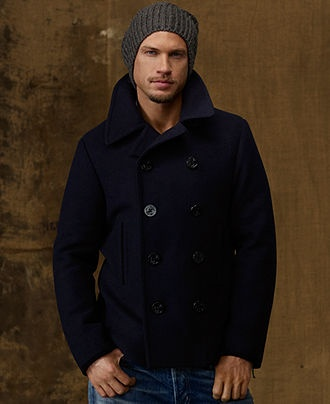 Polo Denim &amp Supply Coat Military-Style Wool-Blend Pea Coat