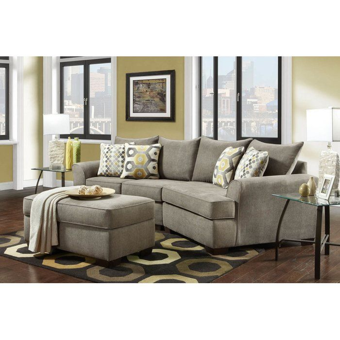 Privette 2 Piece Sectional Small Sectional Sofa Small Living Rooms Living Room Sectional