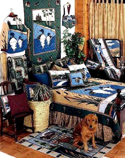 Image Detail For Loon Lodge Quilt Decor Room View