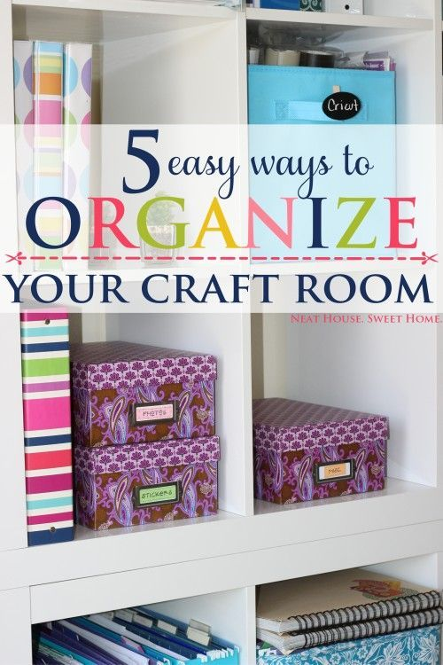 '5 Easy Craft Room Organization Tips...!' (via Neat House. Sweet Home™)