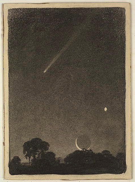 Halley's comet at dawn, 1909 Charcoal on board Published in Harper's Weekly, May 21, 1910