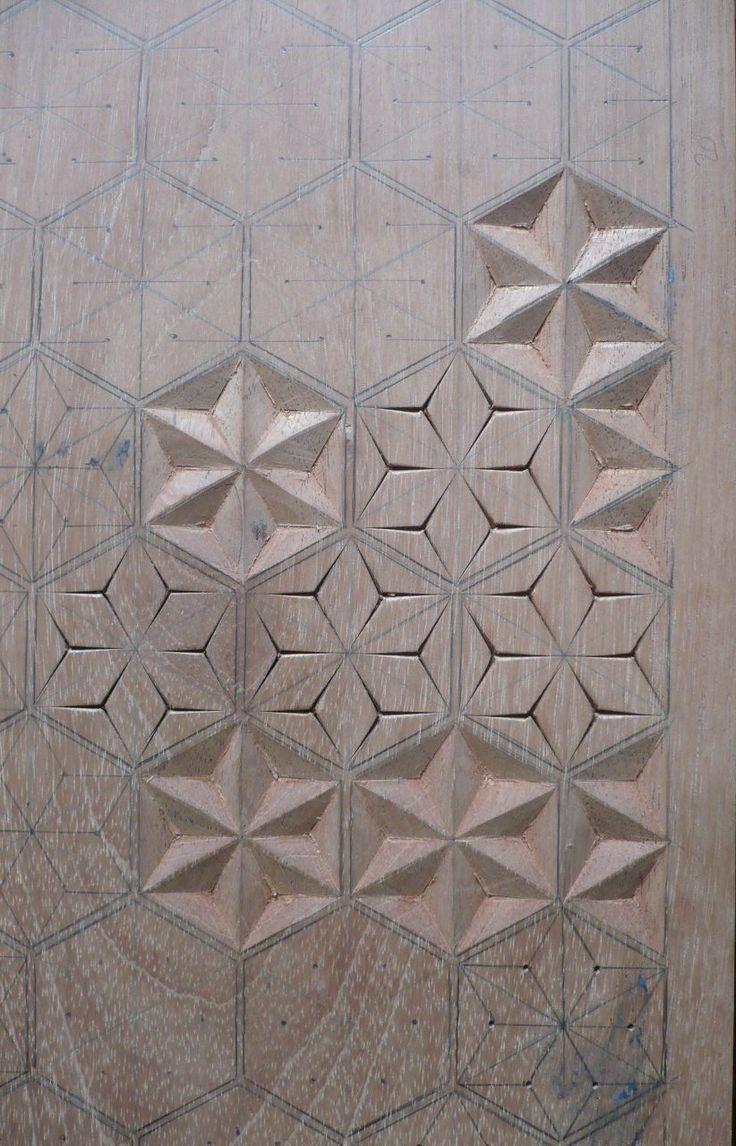 love this idea as a 3D concrete shower wall....