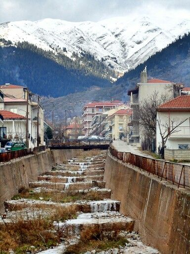 Karpenisi,Greece. This is actually right next to my house there!