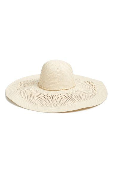 Phase 3 Open Weave Floppy Straw Hat available at #Nordstrom
