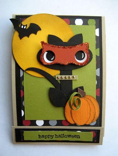 HalloweenCards Ideas, Halloween Cards, Scrapbookpunch Art, Scrapbook Punch Art, Art Cards, Halloween Treats, Art Cat, Paper Crafts, Halloween Cat