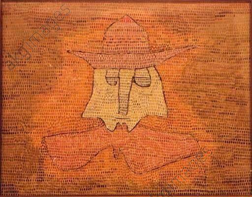 "Pastor Kohl - Klee, Paul 1879–1940. ""Pastor Kohl"", 1932. Öl auf Sperrholz mit überklebtem Nessel, 50 × 65 cm. Nachlaß Felix Klee."