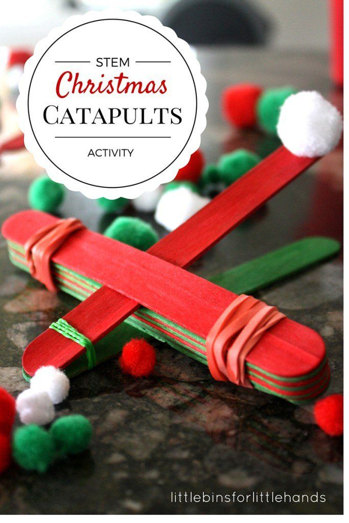 A Christmas STEM activity to do anytime! Build a simple catapult with a Christmas theme. Make your own simple machine using the lever! Learn about physics too.