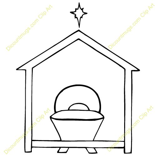 Preschool Coloring Page Nativity Free