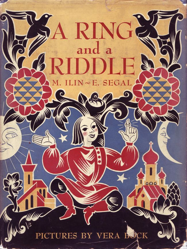 Beautiful illustrations!!!    Vera Bock´s illustration for -A Ring and a Riddle - by M Ilin and E. Segal, publ. 1944