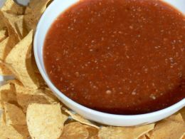 Salsa! Dried red chile de arbol (idk what pepper that is in English, lol and tomatoes; wrap it in foil wrap and 'grill' or you can boil them in water. Once ready, just add the garlic (1 clove is enough!) Throw in blender.. blend... and add salt to taste :-) afterwards you can add minced cilantro... oh my GEEE that adds some taste!!