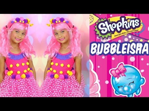 DIY Shopkins Costume | Shopkins SHOPPIES DOLL BUBBLEISHA - YouTube