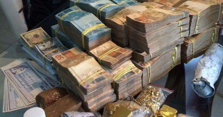 Mais de R$ 500 mil e barras de ouro são apreendidos na casa de doleiro