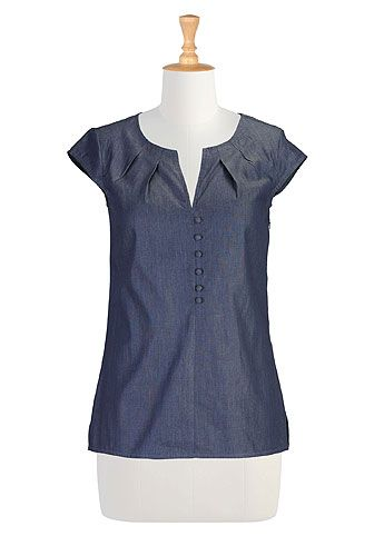 Chateau chambray blouse... Eshakti is a great all round website