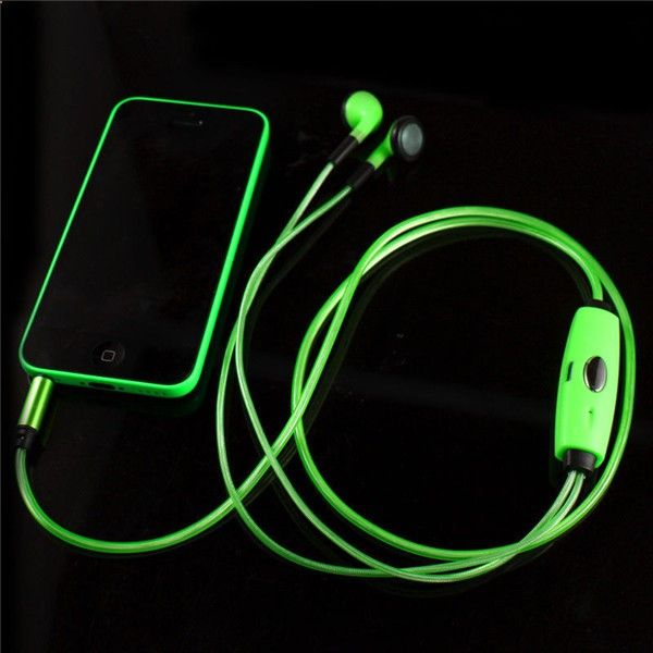 MP3 players for sports 3.5mm Visible Flowing LED Glow Flash Light Sport Stereo Headset Earbud Earphone Headphone With Mic For Smartphone Tablet iPod - One of the best MP3 players in the market. It is submersible up to two meters, is available in five colors.